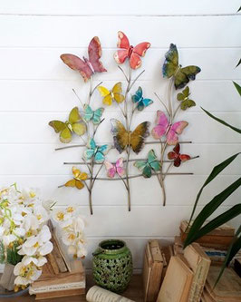 MURALE PARETE  butterflies colors - cm.68x4xh.76