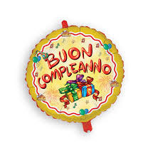 MYLAR BUON COMPLEANNO cm 45