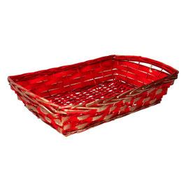 Ceste vimini rosso oro rettangolar e cm54x37h11/13