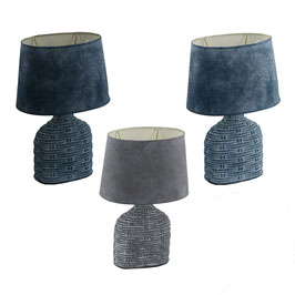 COPPIA LAMPADE CERAMICA 3 COLORI CM21,5X15H31