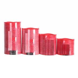 6 CANDELE LED ROSSE 100% PARAFFINA