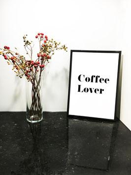 Coffee Lover – mit schwarzem Rahmen