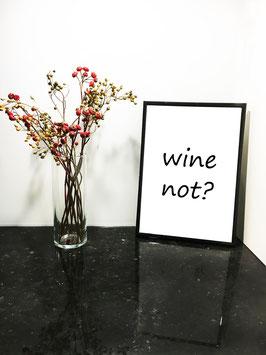 Wine – mit schwarzem Rahmen