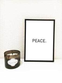 Peace – mit schwarzem Rahmen