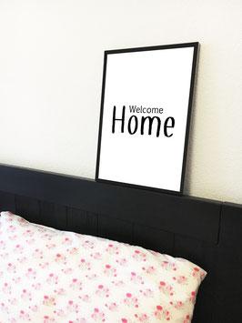 Home – mit schwarzem Rahmen