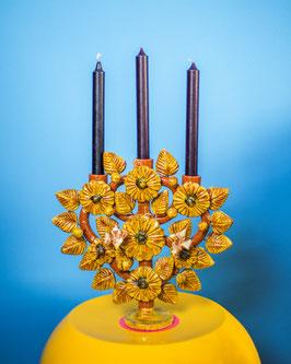 oops SOLD VINTAGE - 1970s Mexican Candleholder Folk Art