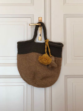 Wool Knitted Bag Yalla! - Bicolor