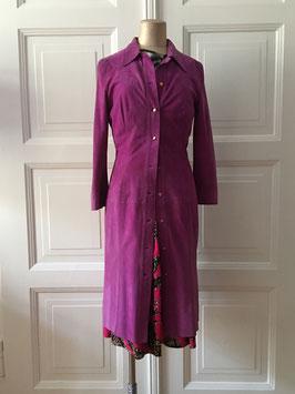 VINTAGE - 1980s Gianni Versace Suede Dress