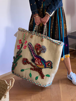 Large Basket by Nathalie Lété PO!PARIS - White
