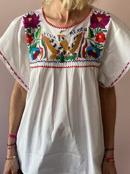 oops SOLD White Mexican Blouse