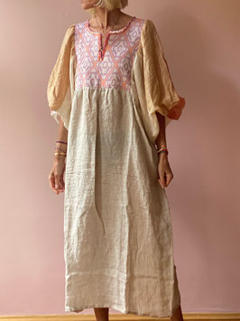 oops SOLD TINA Beige Butterfly Dress