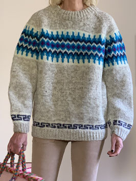 VINTAGE - 1970s Wool Knitted Jumper