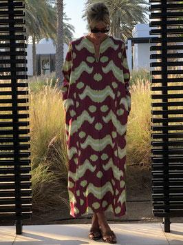 oops SOLD SixTwelve Ikat Burgundy Kaftan Dress