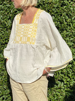 oops SOLD TINA Yellow Linen Blouse