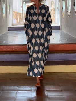 oops SOLD SixTwelve Ikat Blueish Kaftan Dress