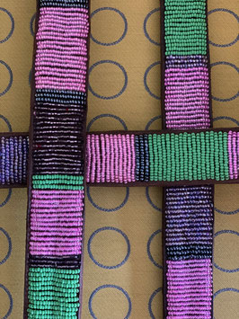African Belt Pearls PINK GREEN - African Love