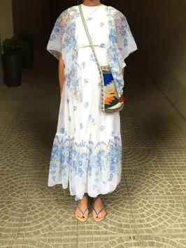 oops SOLD VINTAGE - 70s Blue Floral Dress