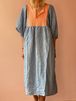 TINA Blue Orange Butterfly Dress
