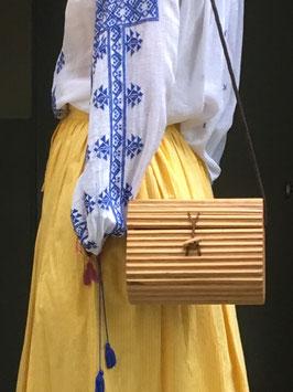 oops SOLD VINTAGE - Wood Bag (unsigned)