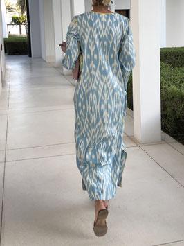 oops SOLD SixTwelve Ikat Sky Blue Kaftan Dress