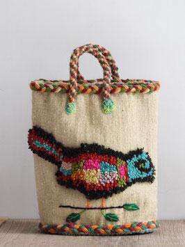 Woven Basket - Bird Beige