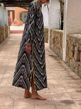 oops SOLD SixTwelve Ikat Black Kaftan Dress