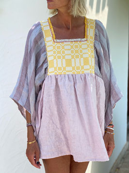 oops SOLD Pink Blush Linen Blouse