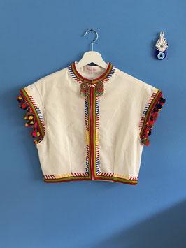 %%Rainbow Vest White%%