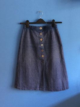 oops SOLD VINTAGE - 1960s Midi Denim Skirt