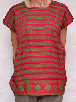 oops SOLD Red Woven Mexican Huipil