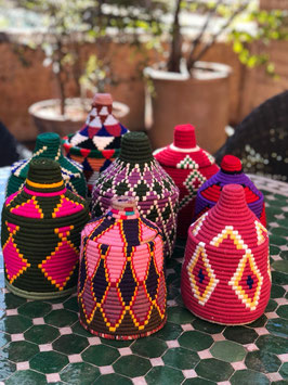 Colorful Berber Baskets