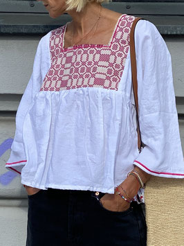 oops SOLD White Linen Blouse