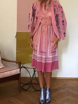 oops SOLD VINTAGE - 1970s Pink Midi Dress