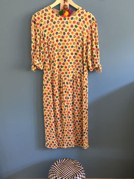 oops SOLD VINTAGE - Colorful Flower Dress