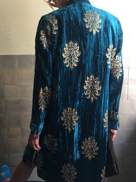 oops SOLD Turquoise Velvet Coat
