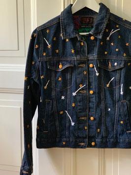 Embroidered Denim Jacket Etoiles filantes