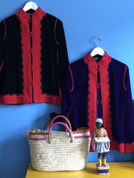 DELIA Jacket Black Red