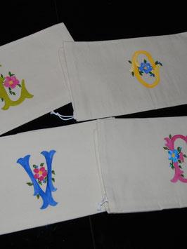 Handmade Monogram A-F Bag