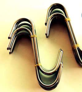10 X STAINLESS MEAT HOOK 160mm x 6 mm