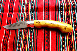 FOLDING KNIFE OLIVE WOOD No 3 WITH SAFETY LOCK SYSTEM