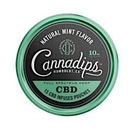 Cannadips CBD Snus Natural Mint Flavour