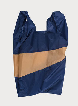 SHOPPING BAG | LARGE | NAVY & CAMEL | SUSAN BIJL