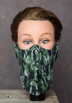 Bartmaske Camouflage