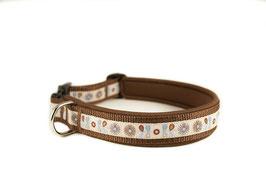 """Klickhalsband """"Smilla brown"""" - 3cm Breite"""