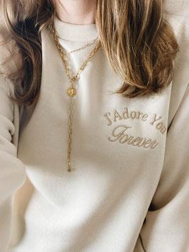 "Sweater ""J'adore"" beige"