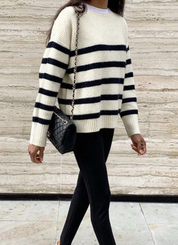 """Pullover """"stripes"""" beige (EF-213075)"""