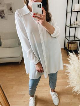 Basic Longbluse white