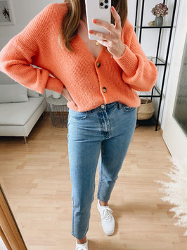 "Basic Cardigan ""orange"""