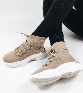 """Sneaker high """"beige"""" (R916)"""