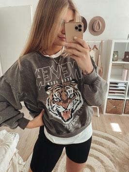 "Sweater ""Tiger"" acid black"